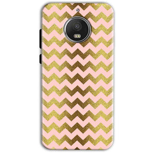 Motorola Moto G5 S Plus Mobile Covers Cases Golden Zig Zag Pattern - Lowest Price - Paybydaddy.com