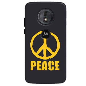 Motorola Moto G6 Play Mobile Covers Cases Peace Blue Yellow - Lowest Price - Paybydaddy.com