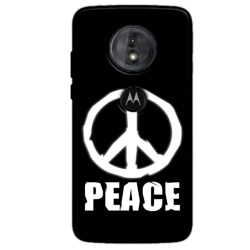 Motorola Moto G6 Play Mobile Covers Cases Peace Sign In White - Lowest Price - Paybydaddy.com