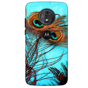 Motorola Moto G6 Play Mobile Covers Cases Peacock blue wings - Lowest Price - Paybydaddy.com