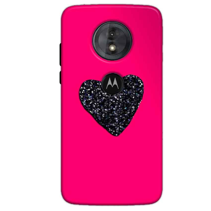 Motorola Moto G6 Play Mobile Covers Cases Pink Glitter Heart - Lowest Price - Paybydaddy.com