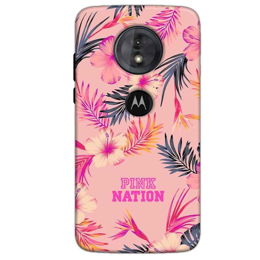 Motorola Moto G6 Play Mobile Covers Cases Pink nation - Lowest Price - Paybydaddy.com