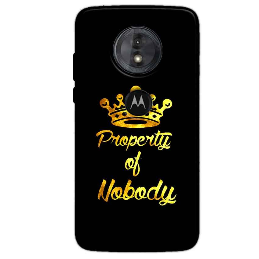 Motorola Moto G6 Play Mobile Covers Cases Property of nobody with Crown - Lowest Price - Paybydaddy.com