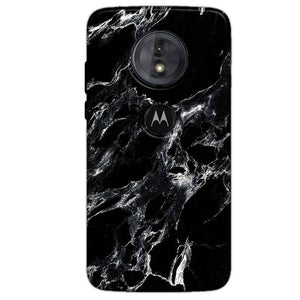 Motorola Moto G6 Play Mobile Covers Cases Pure Black Marble Texture - Lowest Price - Paybydaddy.com