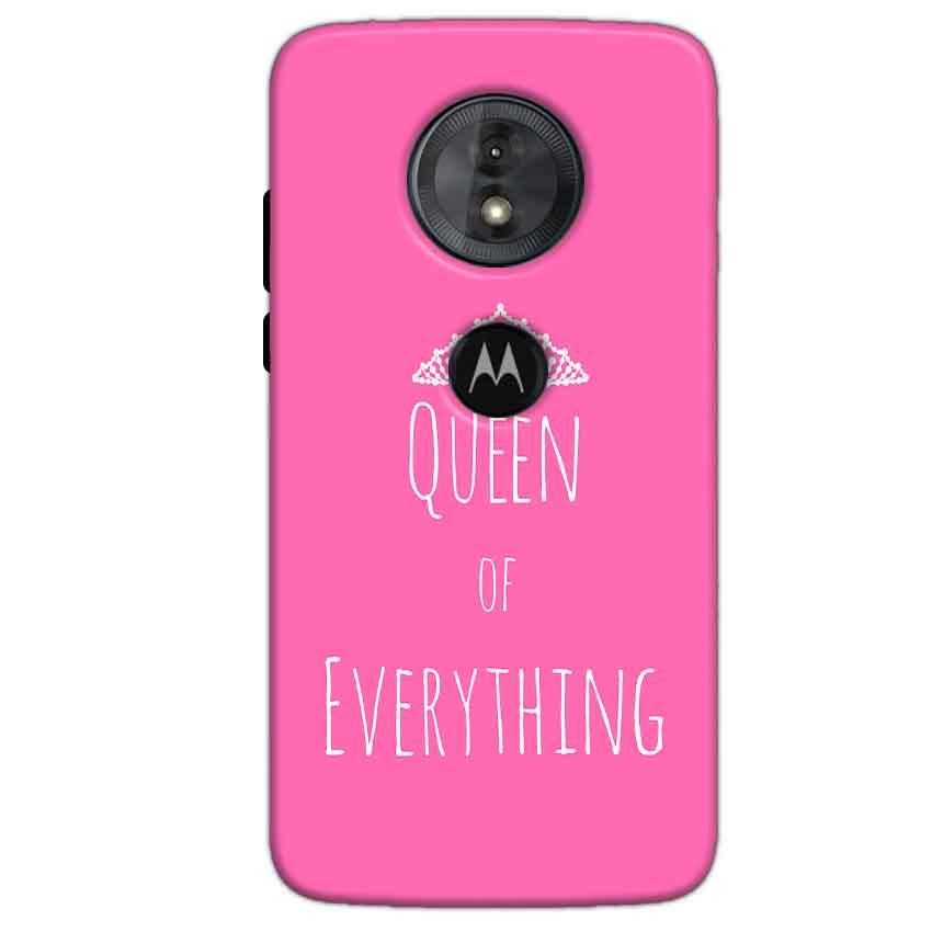 Motorola Moto G6 Play Mobile Covers Cases Queen Of Everything Pink White - Lowest Price - Paybydaddy.com