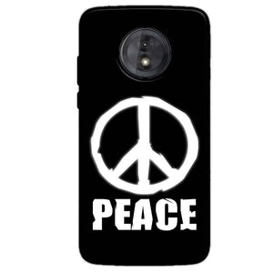 Motorola Moto G6 Play Without Cut Mobile Covers Cases Peace Sign In White - Lowest Price - Paybydaddy.com