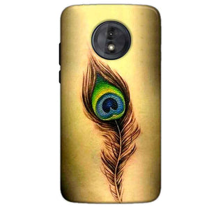 Motorola Moto G6 Play Without Cut Mobile Covers Cases Peacock coloured art - Lowest Price - Paybydaddy.com