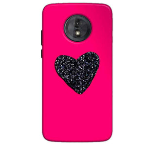 Motorola Moto G6 Play Without Cut Mobile Covers Cases Pink Glitter Heart - Lowest Price - Paybydaddy.com
