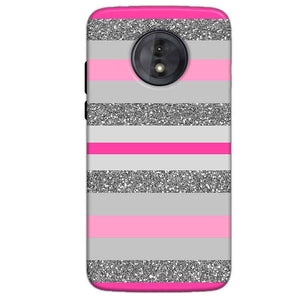 Motorola Moto G6 Play Without Cut Mobile Covers Cases Pink colour pattern - Lowest Price - Paybydaddy.com