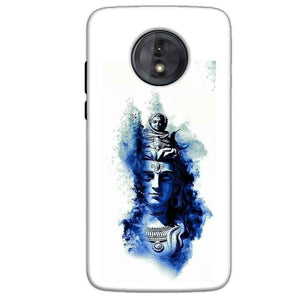 Motorola Moto G6 Play Without Cut Mobile Covers Cases Shiva Blue White - Lowest Price - Paybydaddy.com