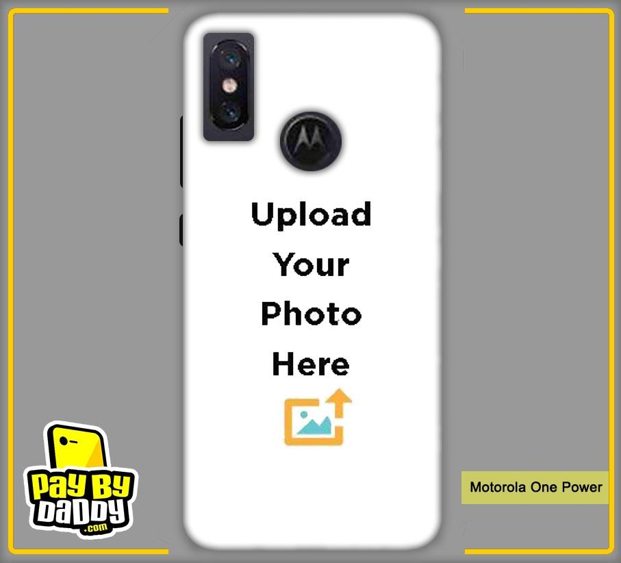 Customized Motorola One Power Back Mobile Phone Covers & Back Covers with your Text & PhotoPhoto Cover,Custom Cover,Picture With Cover