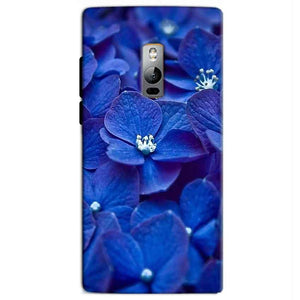 One Plus 2 Two Mobile Covers Cases Blue flower - Lowest Price - Paybydaddy.com
