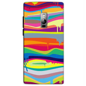 One Plus 2 Two Mobile Covers Cases Melted colours - Lowest Price - Paybydaddy.com