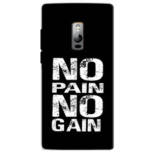 One Plus 2 Two Mobile Covers Cases No Pain No Gain Black And White - Lowest Price - Paybydaddy.com
