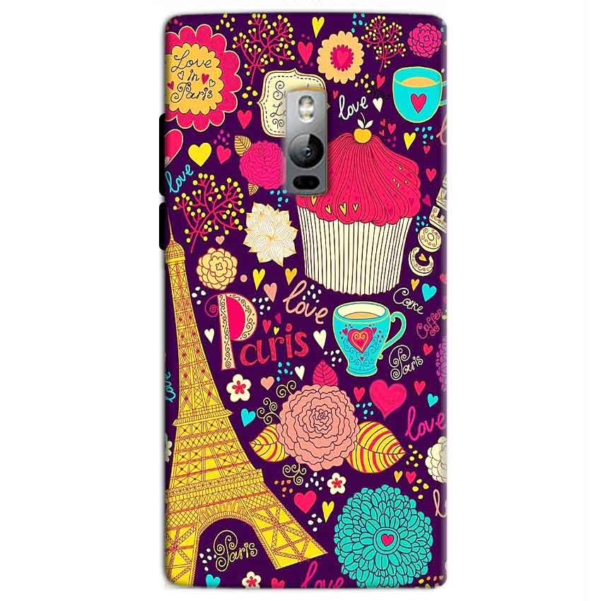 One Plus 2 Two Mobile Covers Cases Paris Sweet love - Lowest Price - Paybydaddy.com