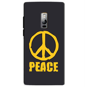 One Plus 2 Two Mobile Covers Cases Peace Blue Yellow - Lowest Price - Paybydaddy.com