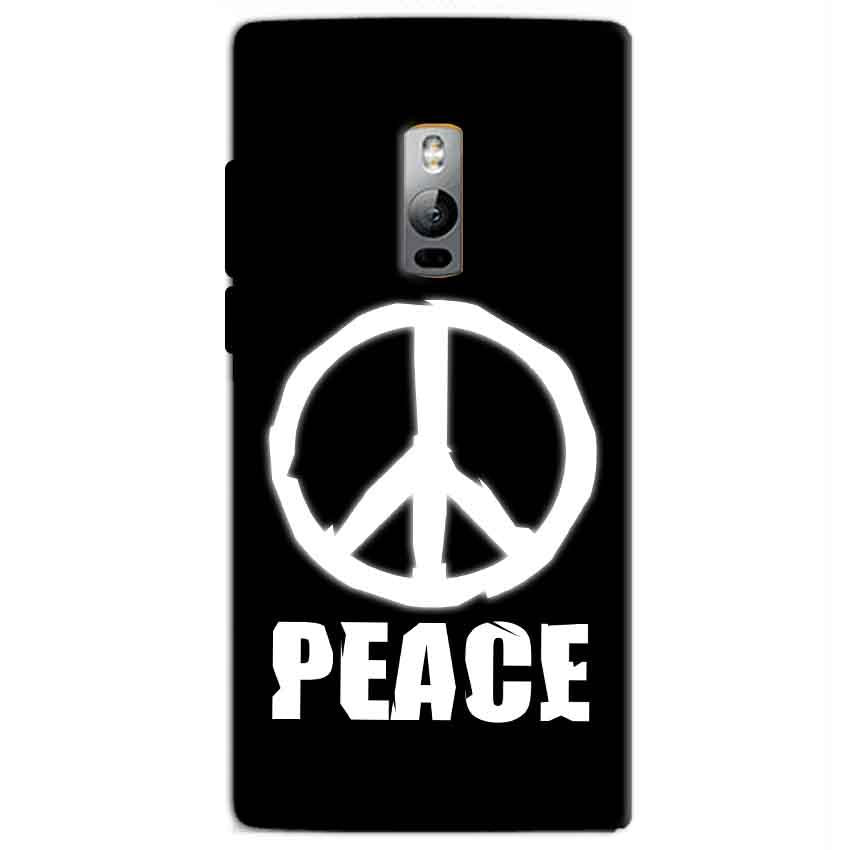 One Plus 2 Two Mobile Covers Cases Peace Sign In White - Lowest Price - Paybydaddy.com