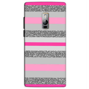 One Plus 2 Two Mobile Covers Cases Pink colour pattern - Lowest Price - Paybydaddy.com