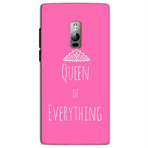 One Plus 2 Two Mobile Covers Cases Queen Of Everything Pink White - Lowest Price - Paybydaddy.com