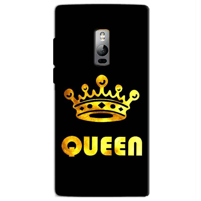 One Plus 2 Two Mobile Covers Cases Queen With Crown in gold - Lowest Price - Paybydaddy.com