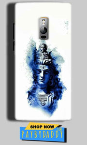 One Plus 2 Two Mobile Covers Cases Shiva Blue White - Lowest Price - Paybydaddy.com