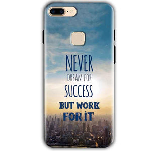 One Plus 5T Mobile Covers Cases Never Dreams For Success But Work For It Quote - Lowest Price - Paybydaddy.com