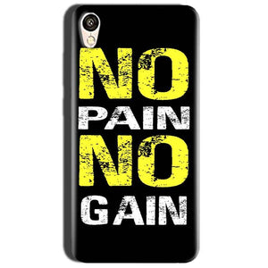 Oppo A37 Mobile Covers Cases No Pain No Gain Yellow Black - Lowest Price - Paybydaddy.com
