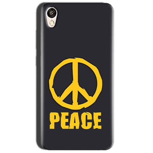 Oppo A37 Mobile Covers Cases Peace Blue Yellow - Lowest Price - Paybydaddy.com