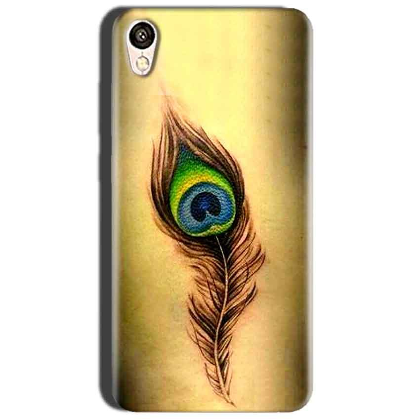 Oppo A37 Mobile Covers Cases Peacock coloured art - Lowest Price - Paybydaddy.com