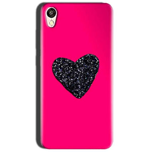 Oppo A37 Mobile Covers Cases Pink Glitter Heart - Lowest Price - Paybydaddy.com