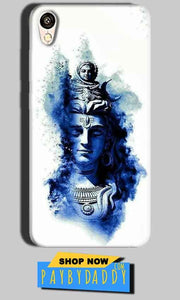 Oppo A37 Mobile Covers Cases Shiva Blue White - Lowest Price - Paybydaddy.com