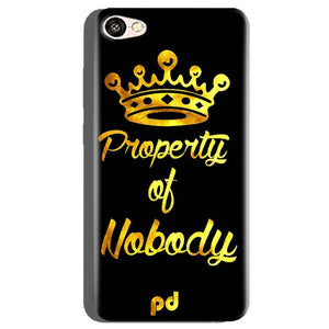 Oppo A71 Mobile Covers Cases Property of nobody with Crown - Lowest Price - Paybydaddy.com