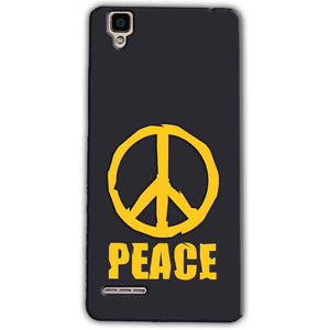 Oppo F1 Mobile Covers Cases Peace Blue Yellow - Lowest Price - Paybydaddy.com