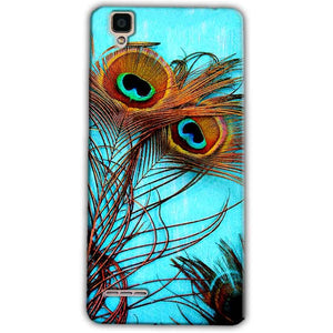 Oppo F1 Mobile Covers Cases Peacock blue wings - Lowest Price - Paybydaddy.com
