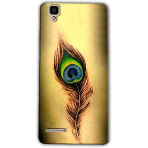 Oppo F1 Mobile Covers Cases Peacock coloured art - Lowest Price - Paybydaddy.com