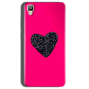 Oppo F1 Plus Mobile Covers Cases Pink Glitter Heart - Lowest Price - Paybydaddy.com