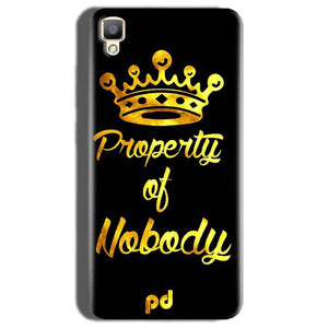Oppo F1 Plus Mobile Covers Cases Property of nobody with Crown - Lowest Price - Paybydaddy.com