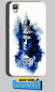 Oppo F1 Plus Mobile Covers Cases Shiva Blue White - Lowest Price - Paybydaddy.com