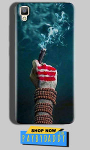Oppo F1 Plus Mobile Covers Cases Shiva Hand With Clilam - Lowest Price - Paybydaddy.com