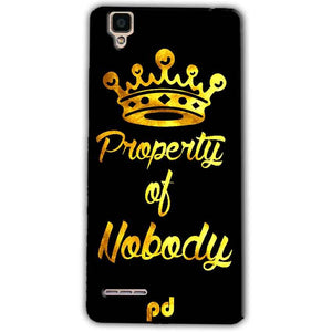 Oppo F1 Mobile Covers Cases Property of nobody with Crown - Lowest Price - Paybydaddy.com