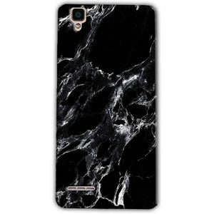 Oppo F1 Mobile Covers Cases Pure Black Marble Texture - Lowest Price - Paybydaddy.com