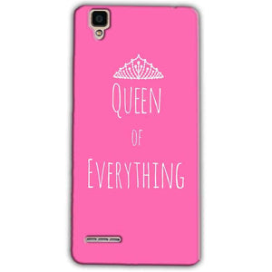 Oppo F1 Mobile Covers Cases Queen Of Everything Pink White - Lowest Price - Paybydaddy.com