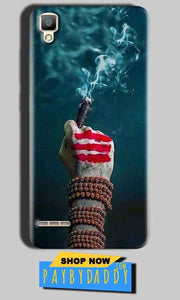 Oppo F1 Mobile Covers Cases Shiva Hand With Clilam - Lowest Price - Paybydaddy.com