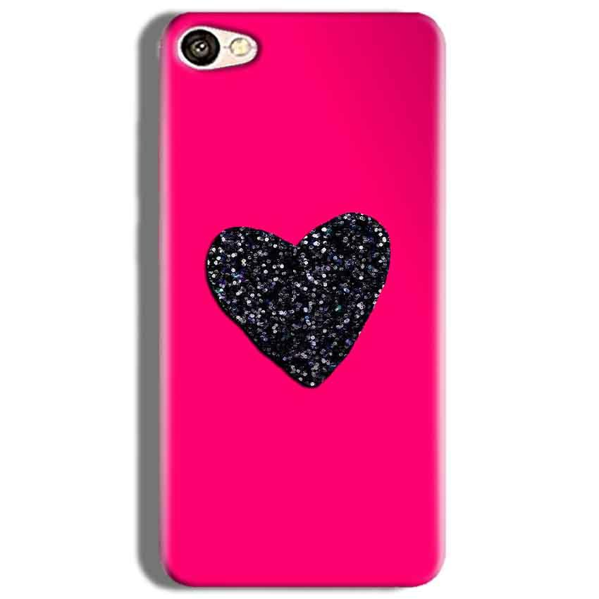 Oppo F3 Mobile Covers Cases Pink Glitter Heart - Lowest Price - Paybydaddy.com