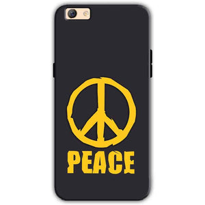 Oppo F3 Plus Mobile Covers Cases Peace Blue Yellow - Lowest Price - Paybydaddy.com