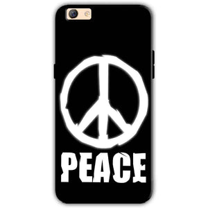 Oppo F3 Plus Mobile Covers Cases Peace Sign In White - Lowest Price - Paybydaddy.com