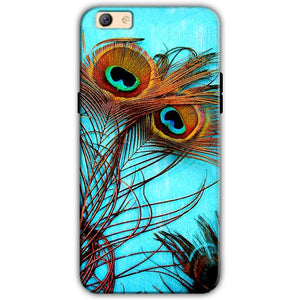 Oppo F3 Plus Mobile Covers Cases Peacock blue wings - Lowest Price - Paybydaddy.com