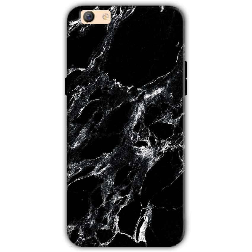 Oppo F3 Plus Mobile Covers Cases Pure Black Marble Texture - Lowest Price - Paybydaddy.com