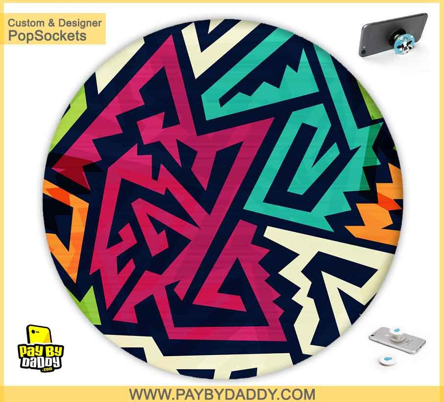 PopSockets Grip - Colorful Lines #4  makes expanding device grips and mounts. Use them for gripping, propping, cord management, and just looking good. Use your PopSockets 50 % Discount On Sale | Free and Fast Shipping