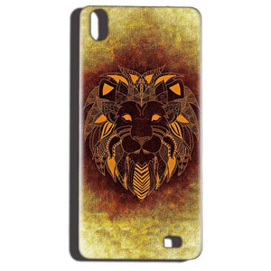 Reliance LYF Water 6 Mobile Covers Cases Lion face art - Lowest Price - Paybydaddy.com